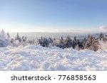 winter landscape. winter forest ... | Shutterstock . vector #776858563