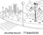 street road graphic black white ... | Shutterstock .eps vector #776860030