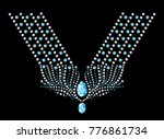 rhinestone applique for t shirt ... | Shutterstock .eps vector #776861734