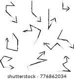 grunge dirt arrow vector. dry... | Shutterstock .eps vector #776862034