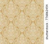 golden ornamental seamless...   Shutterstock .eps vector #776862454