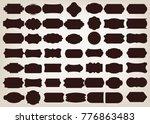 shape of vintage frame set on... | Shutterstock .eps vector #776863483