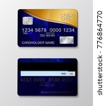 modern realistic credit card... | Shutterstock .eps vector #776864770