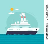 liner  cruise  travel by sea.... | Shutterstock .eps vector #776866906