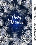 elegant christmas blue... | Shutterstock .eps vector #776867860