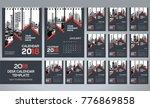 desk calendar 2018 template  ... | Shutterstock .eps vector #776869858