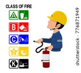 set of fire class icon and the... | Shutterstock .eps vector #776871949