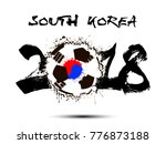 abstract number 2018 and soccer ...   Shutterstock .eps vector #776873188
