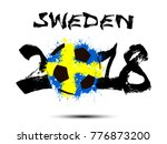 abstract number 2018 and soccer ...   Shutterstock .eps vector #776873200