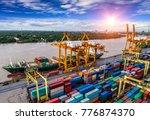 logistics and transportation of ... | Shutterstock . vector #776874370