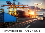 logistics and transportation of ... | Shutterstock . vector #776874376