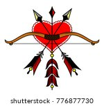 bow and arrow on the background ... | Shutterstock .eps vector #776877730