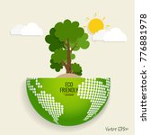 eco friendly. ecology concept... | Shutterstock .eps vector #776881978