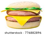 big soft toy burger isolated on ... | Shutterstock . vector #776882896