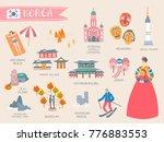 korea travel collection  lovely ...   Shutterstock .eps vector #776883553