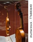 Small photo of Moscow, Russia - Dec 13, 2017: The Glinka National Museum - Violin, Nikolo Amati, Cremona, Italy, 1647
