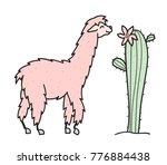 vector illustration of cute... | Shutterstock .eps vector #776884438