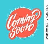 coming soon banner.  | Shutterstock .eps vector #776884573