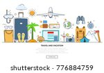 a set of elements for travel... | Shutterstock . vector #776884759
