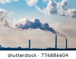 industrial smoke from the plant ...   Shutterstock . vector #776886604