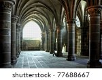Mont  St. Michel in france - stock photo
