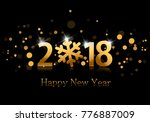 2018. happy new year background ... | Shutterstock .eps vector #776887009