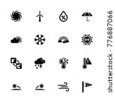 weather icons. flat simple icon ... | Shutterstock . vector #776887066