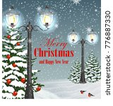 christmas and new year greeting ...   Shutterstock .eps vector #776887330