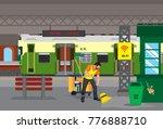 clean railway station | Shutterstock .eps vector #776888710
