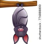 cute bat cartoon sleeping...   Shutterstock .eps vector #776888800