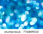 christmas and new year blue... | Shutterstock . vector #776889010