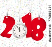 red numbers showing new year... | Shutterstock .eps vector #776889184