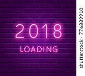 2018 loading. new year glowing... | Shutterstock .eps vector #776889910