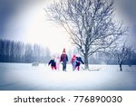 five children playing together... | Shutterstock . vector #776890030
