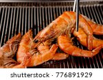 grilled shrimp grilled shrimp... | Shutterstock . vector #776891929