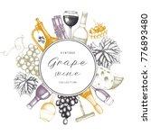 vintage wine card.  vector...   Shutterstock .eps vector #776893480