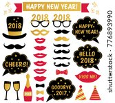 new year 2018 vector party... | Shutterstock .eps vector #776893990