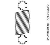 coil spring steel spring  metal ... | Shutterstock .eps vector #776896690