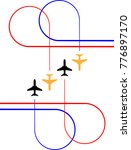 airplane flying formation  air...   Shutterstock .eps vector #776897170