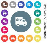 free shipping flat white icons... | Shutterstock .eps vector #776898460