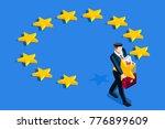 brexit concept. a british... | Shutterstock .eps vector #776899609