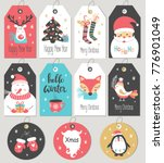 set of merry christmas and new... | Shutterstock .eps vector #776901049