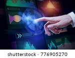 hand pointing at abstract...   Shutterstock . vector #776905270