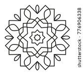 simple mandala shape for... | Shutterstock .eps vector #776906338