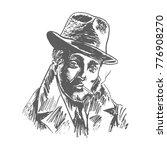 retro 1940  1950s film gangster ... | Shutterstock .eps vector #776908270
