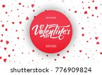 valentines day. banner for... | Shutterstock .eps vector #776909824