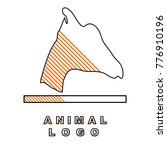 animal logo. the head of the... | Shutterstock .eps vector #776910196