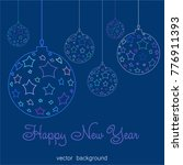 new year vector greeting card ... | Shutterstock .eps vector #776911393