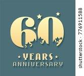 60 years anniversary vector... | Shutterstock .eps vector #776911588