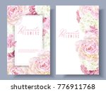 vector botanical banners with... | Shutterstock .eps vector #776911768